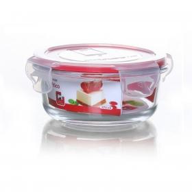 Recipiente Hermético Redondo de Cristal 0,37 L. - Transparente