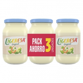 Mayonesa Ligeresa pack de 3 tarros de 210 ml.