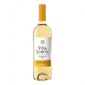 Vino de la Tierra de Castilla blanco chardonnay Viña Lobón 75 cl.