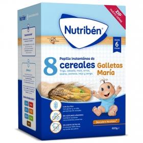 Papilla Nutriben 8 Cereales con Galletas María 600 gr