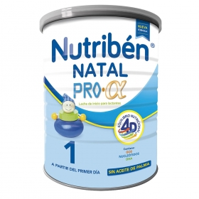 Leche infantil para lactantes desde el primer día en polvo Nutribén Natal 1 lata 800 g.