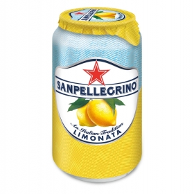 Limonada gaseosa San Pellegrino lata 33 cl.