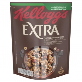 Cereales integrales con chocolate y avellana Extra Kellogg's 375 g.