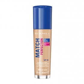 Base de maquillaje líquido Match Perfection nº 200 Soft Beige Rimmel 1 ud.