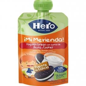 Yogur griego con cookies Hero Supernanos Mi Merienda bolsita de 120 g.