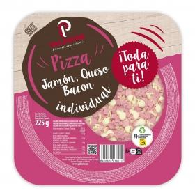Pizza de jamón, bacon y queso Palacios 225 g.