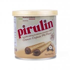 Barquillos rellenos de chocolate y avellanas Pirulin 155 g.