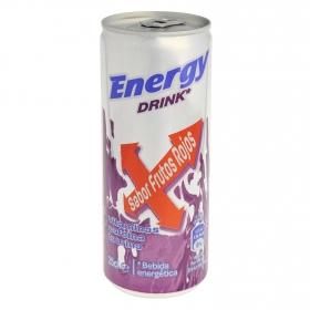 Bebida energética Carrefour sabor frutos rojos 25 cl.