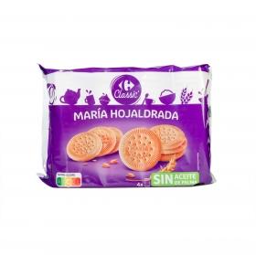 Galletas María hojaldrada Carrefour 600 g.