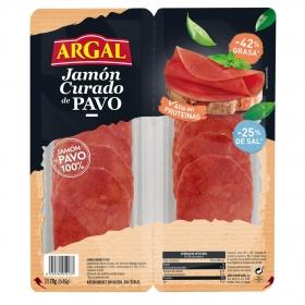 Jamón curado de pavo Argal pack de 2 unidades de 40 g.