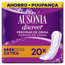 Compresas para pérdidas de orina extra Ausonia Discreet 20 ud.