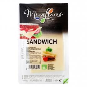 Queso sandwich en lonchas Miraflores 150 g.