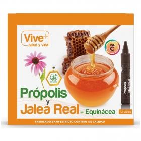 Complemento alimenticio Própolis, jalea real y equinacea en viales Vive Plus 12 ud.