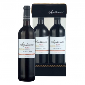 Vino D.O. Ca. Rioja Azpilicueta tinto crianza pack de 2 botellas de 75 cl.