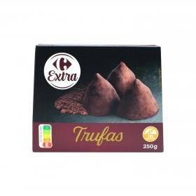 Trufas de chocolate Carrefour 250 g.