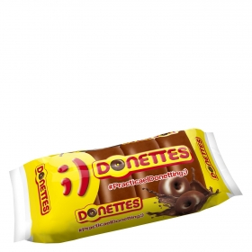 Bollito recubierto de chocolate Donettes 4 ud.