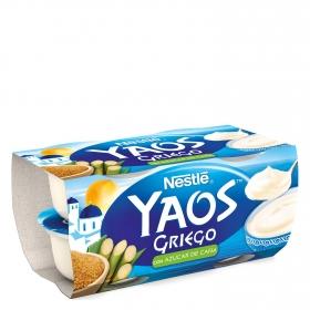 Yogur griego con azúcar de caña Nestlé Yaos pack de 4 unidades de 120 g.