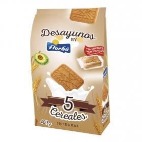 Galletas integrales de cereales Florbú 400 g.