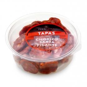 Chorizo sarta picante loncheado Juan Luna bote snack 120 g