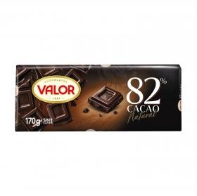 Chocolate negro 82% Valor sin gluten 170 g.