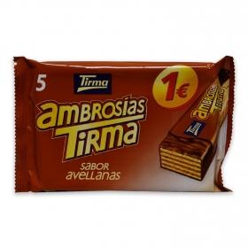 Ambrosías con relleno de avellana cubiertas de chocolate Tirma 5 ud.
