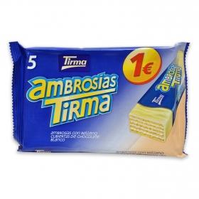 Ambrosías con relleno cubiertas de chocolate blanco Tirma 5 ud.