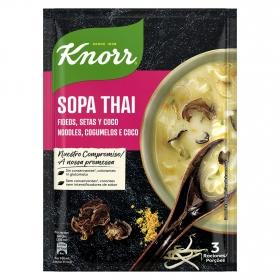 Sopa Thai de fideos, setas y coco Knorr 69 g.