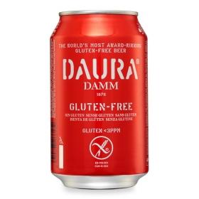 Cerveza Daura sin gluten lata 33 cl.
