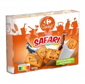 Galletas Safari Carrefour pack de 3 unidades de 200 g.