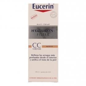 Crema antiedad Hyaluron-Filler con color tono medio Eucerin 50 ml.
