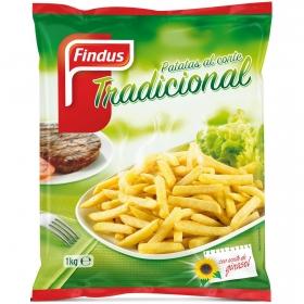 Patatas al corte tradicional Findus 1 kg.