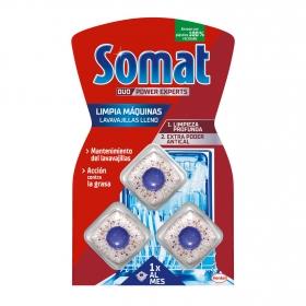 Limpiamaquinas en pastillas Somat 3 ud.