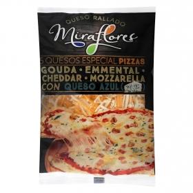 Queso rallado cinco quesos Miraflores 150 g.
