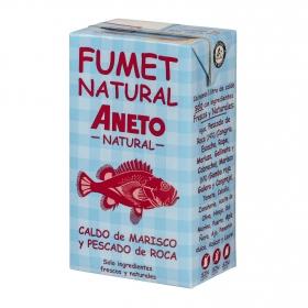 Caldo natural de marisco y pescado de roca Aneto sin gluten y sin lactosa 1 l.