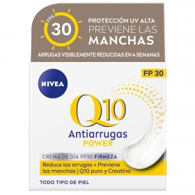 Crema antiarrugas+ firmeza FP 30 Nivea Q10 Power 50 ml.
