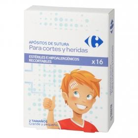 Apósitos de sutura Carrefour 16 ud.