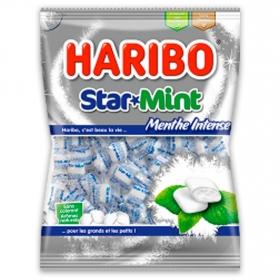 Caramelos masticables sabor menta intensa Haribo 200 g.