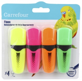 Marcadores Fluorescentes Mini Surtidos 4 uds