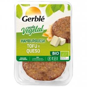 Hamburguesa de tofú con queso ecológica Gerblé Bio pack de 2 unidades de 80 g.