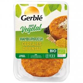 Hamburguesa de cereales oriental ecológica Gerblé Bio pack de 2 unidades de 80 g.