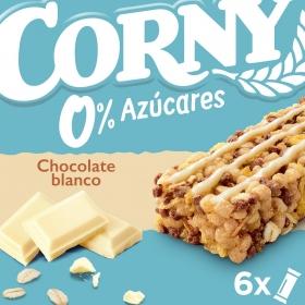 Barritas de cereales con chocolate blanco Hero 6 unidades de 20 g.