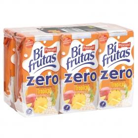 Zumo Bifrutas Tropical zero pack de 6 briks de 20 cl.