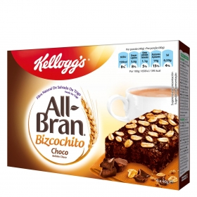 Bizcochito con chocolate All Bran Kellogg's 6 unidades de 40 g.
