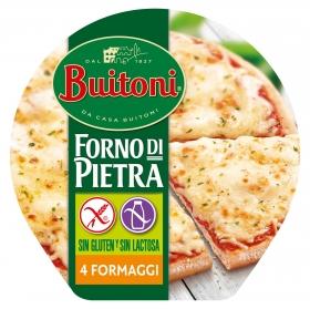 Pizza 4 quesos Buitoni sin gluten sin lactosa 360 g.