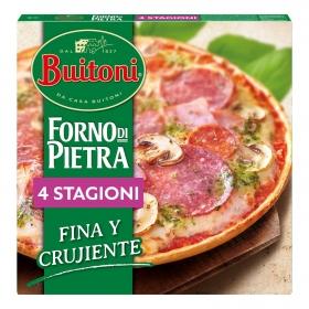 Pizza cuatro estaciones fina y crujiente Forno di Pietra Buitoni 355 g.