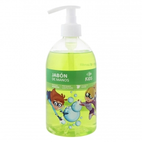 Jabón de manos perfume manzana Carrefour Kids 500 ml.