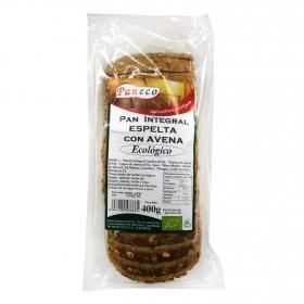 Pan integral espelta con avena ecológico Paneco 400 g.