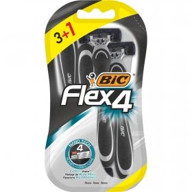 Maquinilla de afeitar desechable Flex 4 Bic 4 ud.