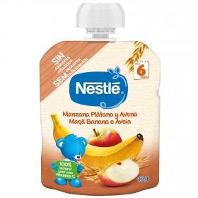 Preparado de manzana, plátano y avena desde 6 meses Nesté bolsita de 90 g.