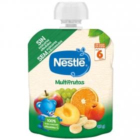 Preparado multifrutas desde 4 meses Nestlé sin gluten bolsita de 90 g.